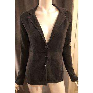 Anne Klein Gray Sweater Blazer New With Tags